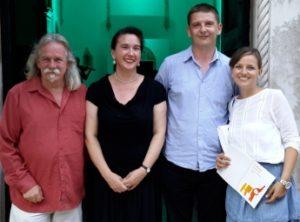 Alan with Tamara, Hrvoje and Ana Horvat, clarinettist/direction team